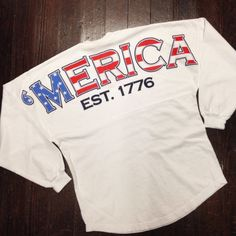 It doesn't get any more USA patriotic than this America 'Merica Spirit Jersey Shirt School Outfits, Boy Outfits, Summer Outfits, Cute Outfits, Spirit Jersey, Cute N Country, Country Girls, American Pride, American Flag