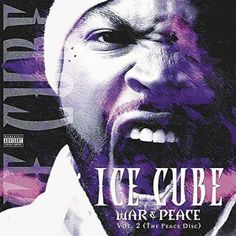 Ice Cube War & Peace Vol. The Peace Disc on Respect The Classics Campaign Reissue War & Peace (The Peace Disc) is the second volume of the two part fifth studio album from rapper Ice Cub Rap Albums, Hip Hop Albums, Music Albums, Ice Cube Songs, Lp Vinyl, Vinyl Records, Mack 10, Things That Bounce, Cool Things To Buy