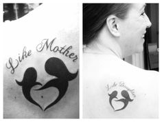 Mother daughter tattoo <333