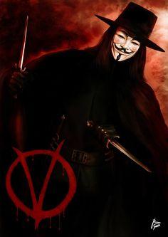 V de Vendetta by Raistt V For Vendetta Quotes, V For Vendetta 2005, V Pour Vendetta, V For Vendetta Wallpapers, Hugo Weaving, Photography Movies, Sci Fi Comics, Guy Fawkes, My Superhero