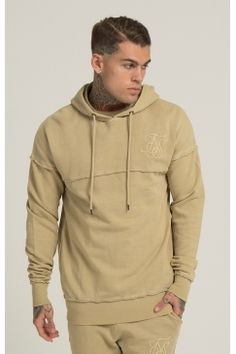 SikSilk - Raw Edge Overhead Hoodie - Sand | It's the details of this raw edge hoodie that make it stand out from the crowd - you can always count on Sik Silk to bring something new to the table when it comes to signature urban design. Available now @ Urban Celebrity!