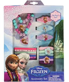 Accessorize her every look -- Frozen style! -- with this 18-piece set.