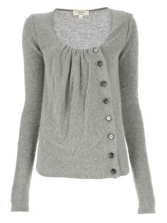 Precious asymmetrical button cardigan! This is just perfect! Cute. Would love in s color