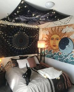 creative diy bohemian style home decor ideas 38 Cozy Bedroom, Trendy Bedroom, Home Decor Bedroom, Modern Bedroom, Bedroom Ideas, Master Bedroom, Decor Room, Room Decorations, Bedroom Furniture