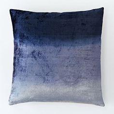 Ombre Velvet Pillow Cover - Nightshade #westelm