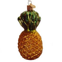"Pineapple+Christmas+Ornament+28013+4""+Mouth+blown,+hand+painted,+glass+Christmas+ornament+from+Merck+Family's+Old+World+Christmas.+Pineapples+have+long+symbolized+friendship+"