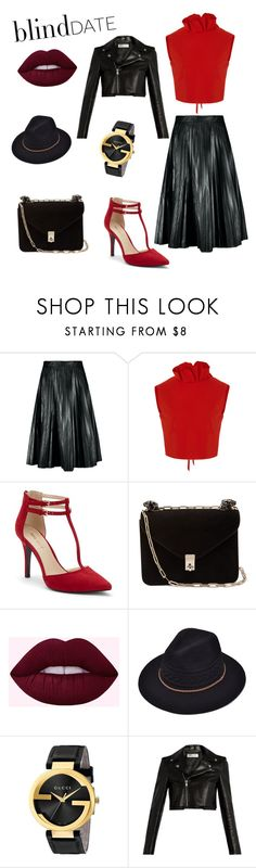 """""""Blind date"""" by pegi-kurti ❤ liked on Polyvore featuring SemSem, Nine West, Valentino, Gucci and Yves Saint Laurent"""