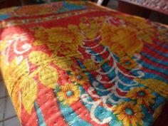 Handmade Kantha QuiltVintage KanthaCotton par IndianHomeTextile, $49.99