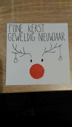 Kaarten - kerst - nieuw jaar - rendier Diy Christmas Mugs, Christmas Doodles, Christmas Drawing, Christmas Cards To Make, Christmas Baubles, Christmas Art, Paper Cards, Diy Cards, Company Christmas Cards