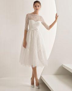 Teal Length Wedding Dress - Rosa Clará Amalia