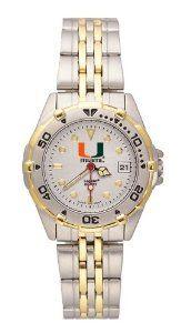 University Of Miami Hurricanes Women's Brushed Chrome All Star Watch Logo Art. $79.95