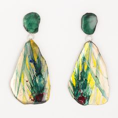 Painted brass earrings, by Johanne Ratté des Joanneries, 2016 @Johanne Ratté