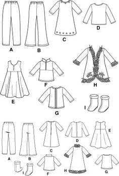 Free Printable Doll Clothes Patterns | Free Printable 18 Inch Doll Clothes Patterns | Simplicity 4786 Pattern ...