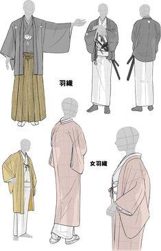 Kimono drawing guide 2/2, by Kaoruko Maya (tumblr,... - Tanuki+Kimono