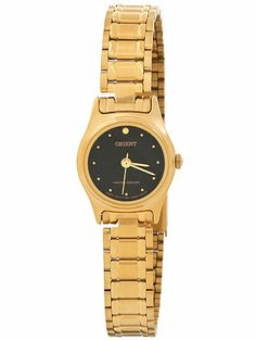 Orient Gold & Black Ladies Analog Watch | American Apparel