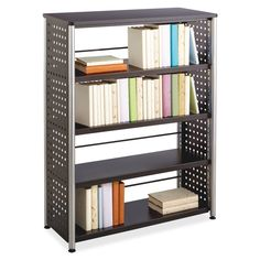 Safco Scoot Contemporary Design Bookcase 36 x x 36 3 Shelves Material Steel Particleboard Finish Black Laminate Powder Coated 2 Shelf Bookcase, Storage Shelves, Slim Bookcase, Black Bookcase, Large Bookcase, Book Storage, Book Shelves, Storage Rack, Storage Boxes