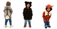 Foxes, bears and bunnies, oh my! Adorable animal duffle coats for kids #Coats, #KidsClothing