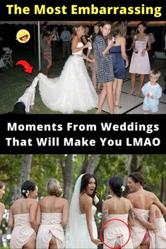 #The #Most #Embarrassing #Moments #From #Weddings #That #Will #Make #You #LMAO Embarrassing Moments, Hilarious, Funny, Celebs, Celebrities, New Pins, Cute Puppies, Makeup Looks, Train