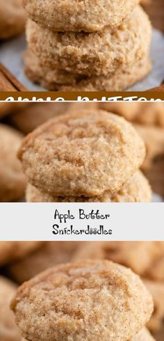 Apple Butter Snickerdoodles are an easy snickerdoodle recipe made with apple butter and warm cinnamon. These snickerdoodles soft and chewy and are the perfect fall cookie recipe. Betty Crocker Sugar Cookies, Healthy Sugar Cookies, Almond Sugar Cookies, Sour Cream Sugar Cookies, Sugar Cookie Cakes, Gluten Free Sugar Cookies, Chewy Sugar Cookies, Sugar Cookie Frosting, Sugar Cookie Dough