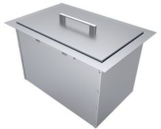 SUNSTONE BIC14 OverUnder Height Single Basin Insulated Wall Ice Chest with Cover 14 x 12 Stainless Steel ** ON SALE Check it Out