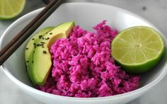 Vibrant Dragonfruit Coconut Rice [Vegan] | One Green Planet