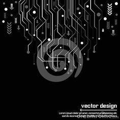 Abstract technology circuit board vector design