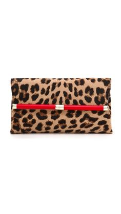 Diane von Furstenberg 440 Haircalf Envelope Clutch- Can never go wrong with Leopard!