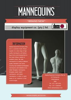 Display Equipment Company (Pty) Ltd is a premiere South African supplier of a wide range of high quality mannequins, and fashion figure forms, and bringing them to the South African market at excellent prices.