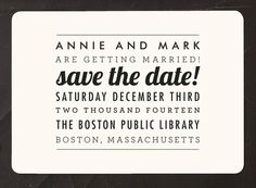 Minted Save the Date Magnet