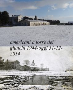 Torre dei Giunchi (Junchi) Airfield - 2.5 miles from San Severo, Italy, as my father saw it during World War Two and a photo of the same place today. Present day photo courtesy of Saverio d'Incalci, San Severo, Italy | World War Two