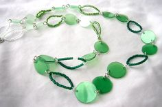 NEW YEAR SALE Plastic bottle set necklace and by dekoprojects, $13.50