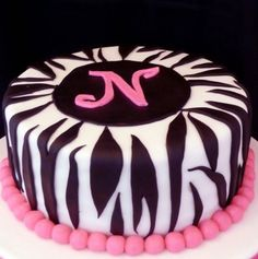 zebra stripes i made this cake for a birthday the cake is a white cake with strawberry buttercream filling the cake covering and stripes are fondant and
