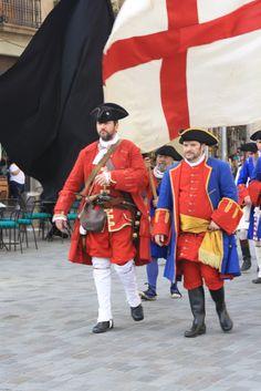 #miqueletscat. El Coronel de #Miquelets Ermengol Amill (esquerra). Franquejat… 18th Century Clothing, Revolutionaries, Spanish, Military, War, Soldiers, Image, Clothes, Great Britain
