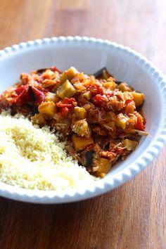Beringela Estufada com Tomate à Marroquina