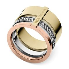 TRI-TONE CLEAR STACKABLE RING