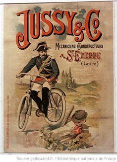 Jussy and Co. Mécaniciens constructeurs à St Etienne (Loire) : [affiche] / [J. Coulange Lautrec] - 1890……re pinned by Maurie Daboux 웃╰☆╮