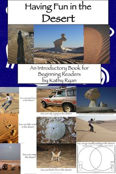 This can be used as a Power Point shared reading experience, or it can be copied, laminated, bound, and used as a guided/independent reading book for even your lowest readers.    A series of thinking questions is at the end of the book. It also includes a Venn Diagram for students to compare and contrast activities you can do in the desert to activities students can do in their own environments.    This is the fourth book in my series of Egyptian Informational Texts for Beginning Readers.