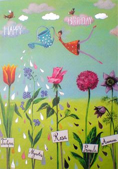 Discover thousands of images about nina-shen-fee-happy-birthday-lulu-shop. Best Friend Birthday, Happy Birthday Wishes, Birthday Greetings, Postcard Design, Christmas Wishes, Christmas Post, Happy B Day, Birthday Party Favors, Whimsical Art