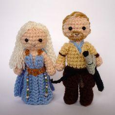 "Game of Thrones: Jorah Mormont and Daenerys Targaryen (Khaleesi) (""Dany and Jorah"") | LunasCrafts, on deviantART."