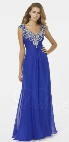 Charming A-line Straps Chiffon Beaded Floor-length Prom Dress With Diamond SKU: PD3106 at http://www.couponcutoff.com/store/didobridal/