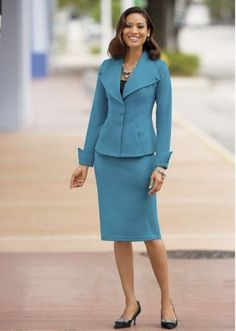 Kamini Stretch Suit from Monroe and Main. Fashion Fit for You in Misses & Plus Sizes. www.monroeandmain.com