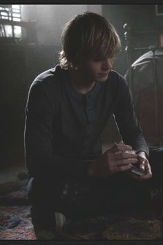 The scene where he's playing a game with violet after she find out she is dead