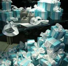 How to tie a Tiffany ribbon around a box (instructions)