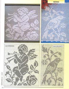 Rankdarbiai+visazinis Nr.210 9-2008 - Dalia Vasi - Picasa Webalbumok Crochet Dollies, Crochet Angels, Crochet Cross, Knit Crochet, Cross Stitch Angels, Cross Stitch Flowers, Crochet Designs, Crochet Patterns, Filet Crochet Charts