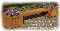 Bench Seat with Planter Boxes