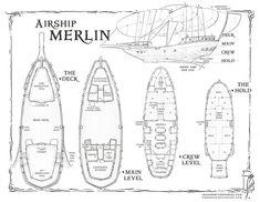 Airship Merlin by SirInkman