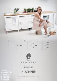 Kitchen furniture system for Pan Popi www.panpopi.pl