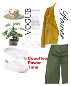"""""""Coffee power time"""" by giastyle on Polyvore featuring beauty, Ted Baker, River Island and Ray-Ban"""