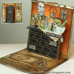 Scary Apothecary Pop-Up Card - Layers of ink