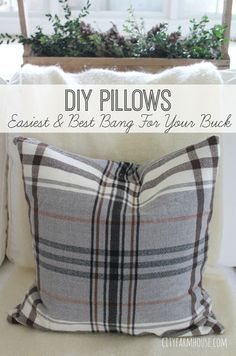 DIY Pillows-Easiest & Best Bang For the Bucks{Perfect for the Holidays}-City Farmhouse